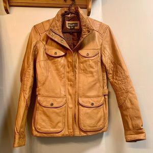 Eddie Bauer Brown Genuine Leather Field Jacket
